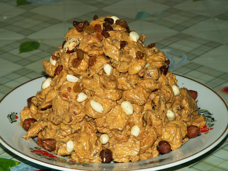 Торт муравейник. с орехами
