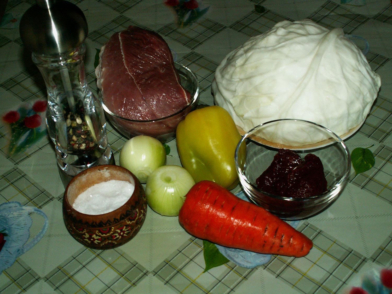 капуста с мясом тушеная без томатной пасты рецепт