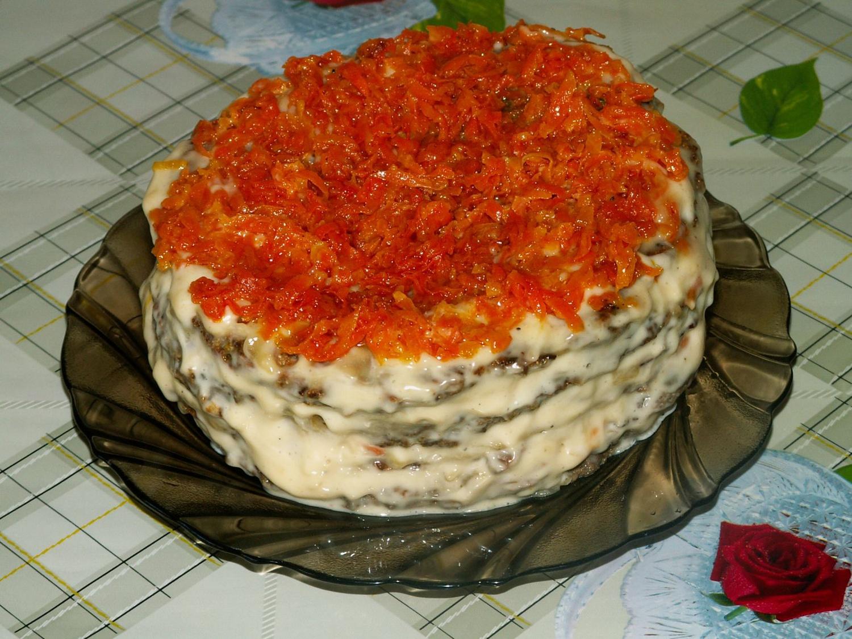 Как сделать печёночный торт в рецепт