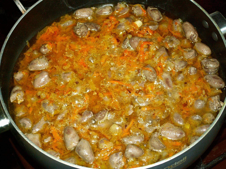 Куриные сердечки с картошкой тушеные рецепт пошагово в