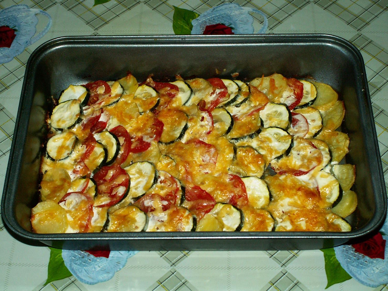 Рецепт кабачков с картофелем в духовке