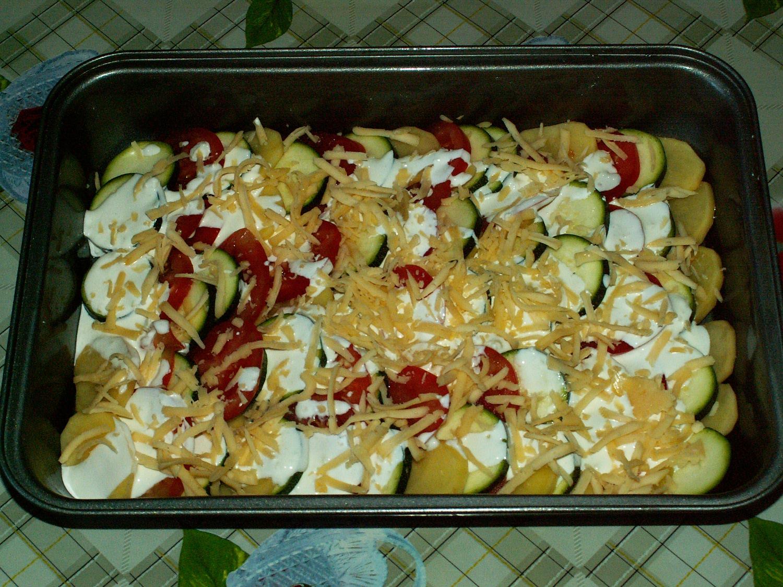 Овощное рагу с сыром в духовке рецепт пошагово